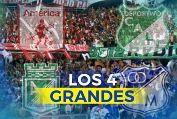 Como en el 96, otra semifinal con los cuatro grandes del fútbol colombiano