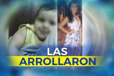 Familiares de menor y una bebé arrolladas por dos mujeres, piden claridad en el caso