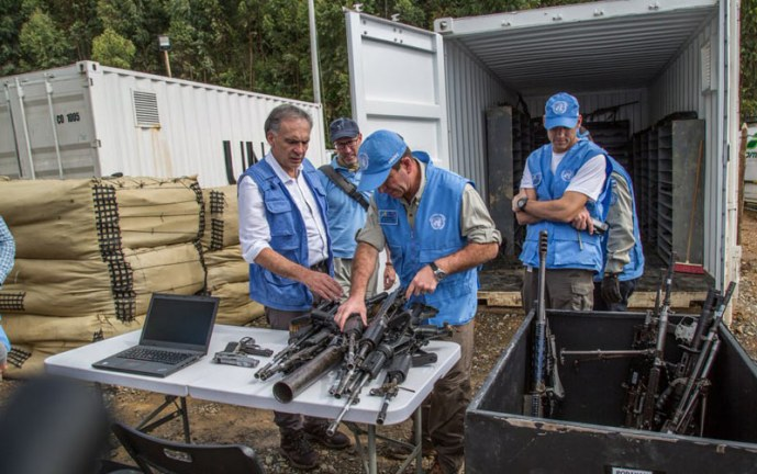 Jornada histórica para Colombia, ONU recibió la totalidad de armas de las Farc