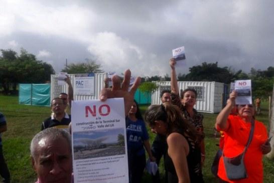 Residentes del barrio Valle del Lili se oponen a construcción de Terminal sur del Mío