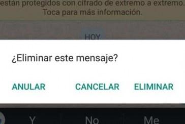 WhatsApp tendría por fin la posibilidad de eliminar un mensaje enviado