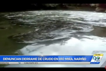 Preocupación en zona rural de Tumaco por contaminación de crudo en el río Mira