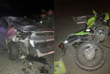 Un policía muerto por accidente de tránsito en vía Cali – Candelaria, sector Cavasa