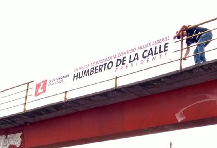 Retiran propaganda política de Humberto de la Calle de las vías de Cali