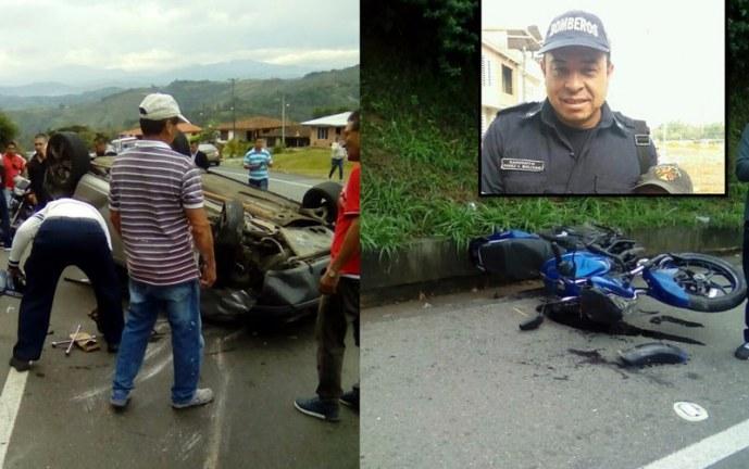Bombero y su esposa fallecen tras accidente de tránsito en Santander de Quilichao