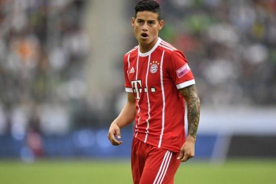 Así fue el primer gol de James Rodríguez con el Bayern Munich por Bundesliga