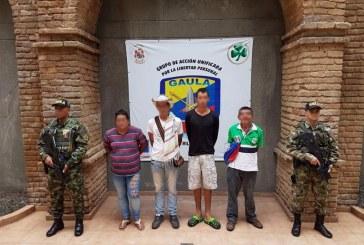 En operativo militar capturan a cuatro presuntos guerrilleros del ELN en Valle