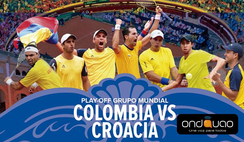 Selección Colombia de tenis se alista para enfrentar a Croacia en la Copa Davis