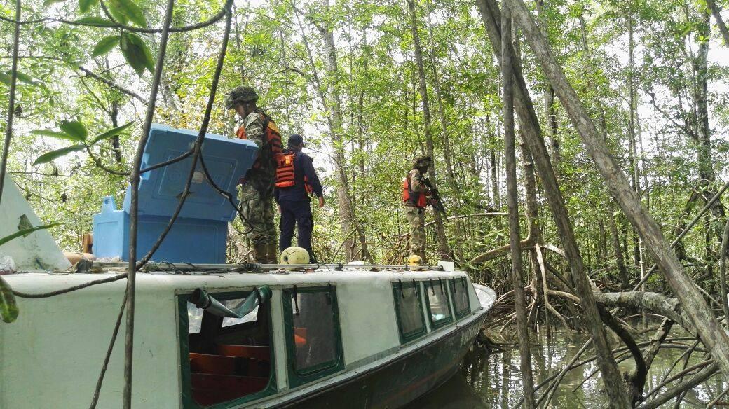 Armada Nacional recuperó embarcación hurtada en el Pacífico vallecaucano