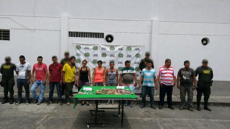 Capturan a once miembros de banda 'Los Cebolleros' que operaba en Tuluá y Buga