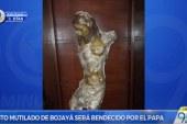 El cristo mutilado de Bojayá será bendecido por el papa en su visita a Villavicencio