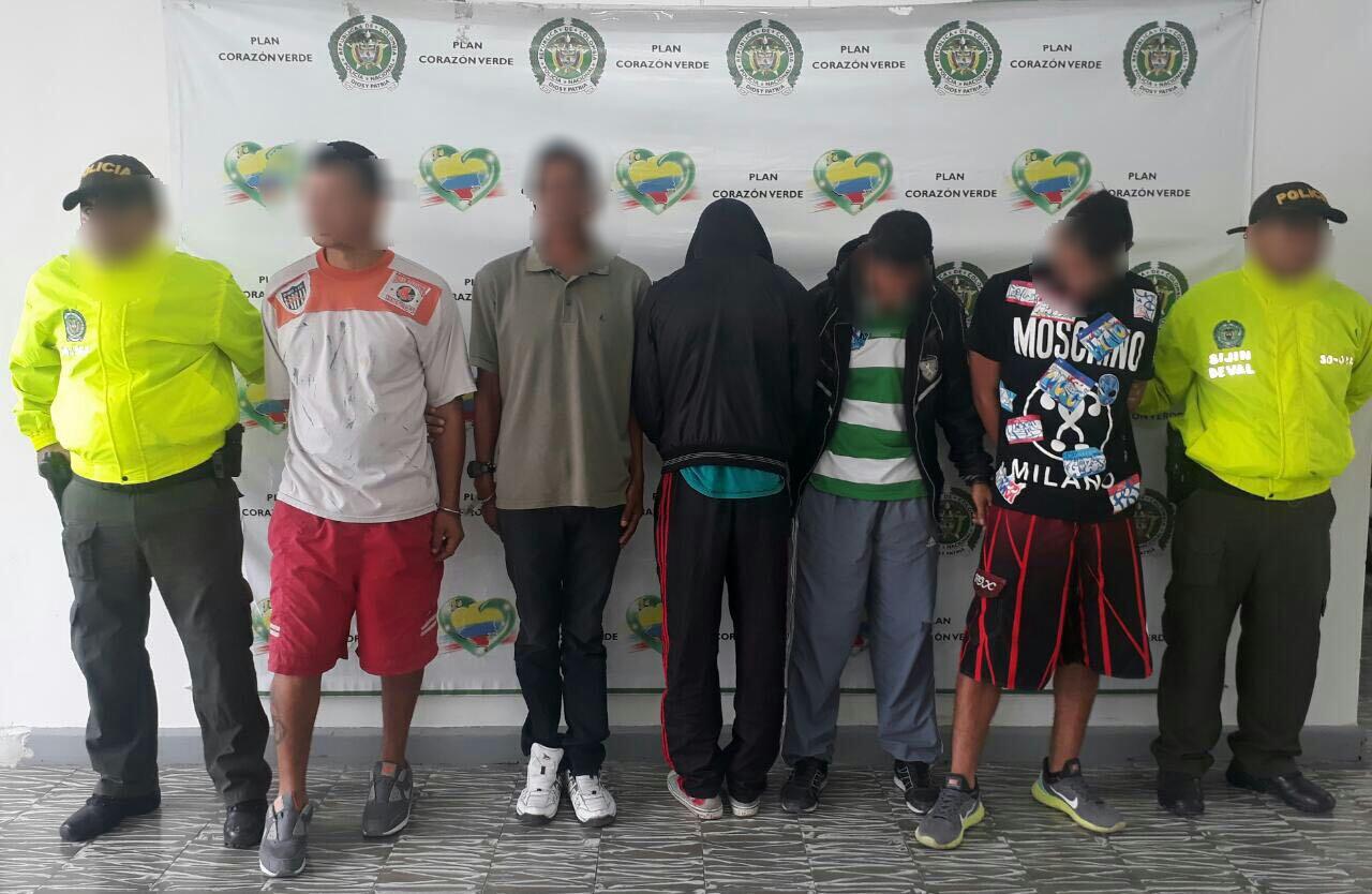 Desarticulada banda 'El Guayabal' dedicada al tráfico de estupefacientes
