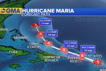 En tiempo real siga el recorrido del huracán María por el Caribe