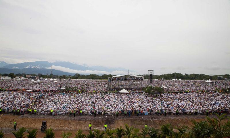 Multitudinaria homilía del papa Francisco en Villavicencio: 600 mil personas escucharon sus palabras