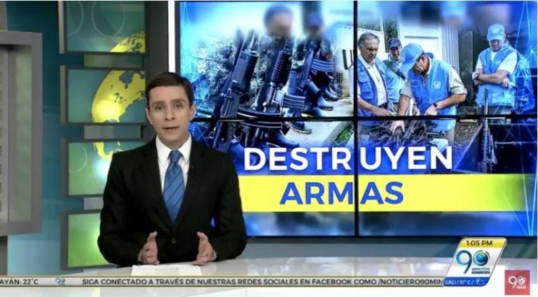 ONU inició destrucción de armas entregadas por las Farc