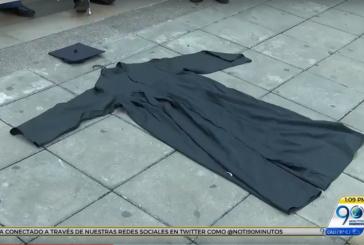 Gremio de abogados protestó en el Palacio de Justicia de Cali contra el 'cartel de la toga'