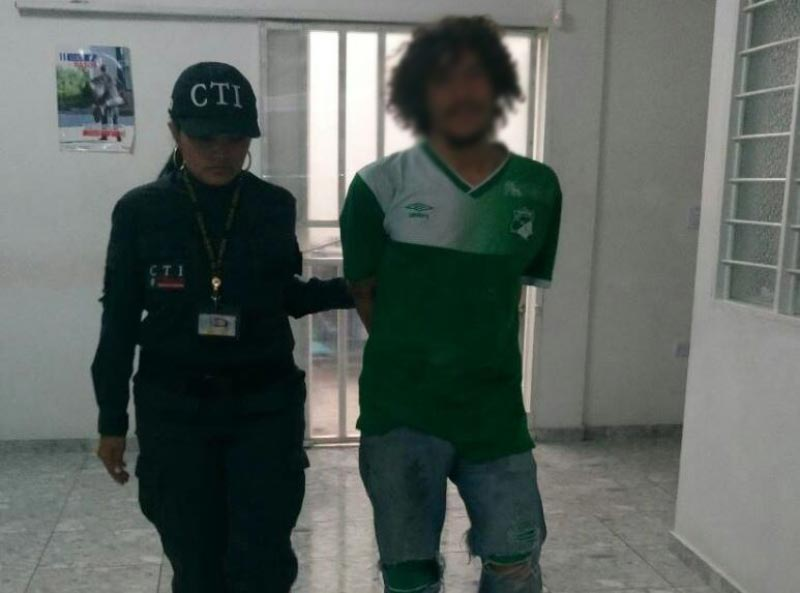 Alias El Pibe fue capturado en El Cerrito luego de agredir físicamente a su padre