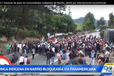 Preocupación en Nariño por pérdidas económicas de próximo paro indígena