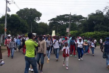 Bloqueo en vías de Jamundí por protestas de las comunidades afrodescendientes