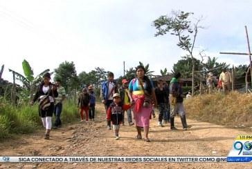 Campesinos protestan por erradicación de cultivos de coca en Cauca