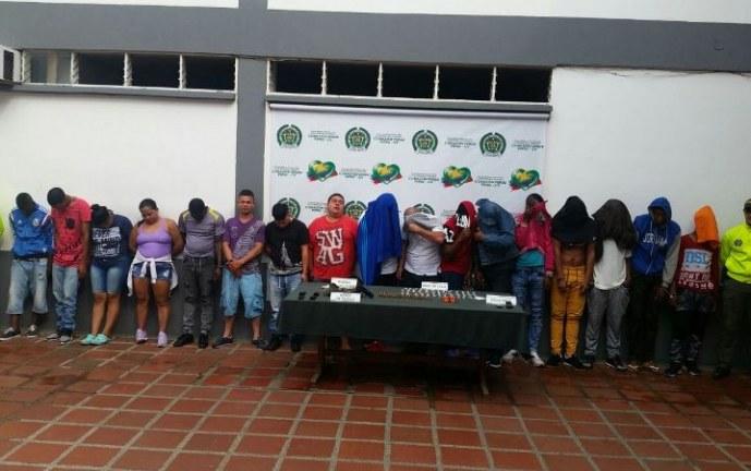 Capturadas 17 personas pertenecientes a dos bandas delincuenciales de Cali