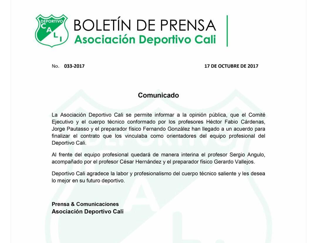 cardenas-no-va-mas-deportivo-cali-17-10-2017