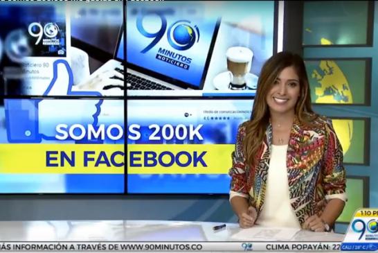¡Gracias! Ya completamos 200.000 'Me gusta' en el Facebook de 90 Minutos