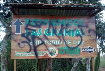 Alarma en zona rural de La Cumbre, Valle, por presencia de letreros alusivos a las AUC