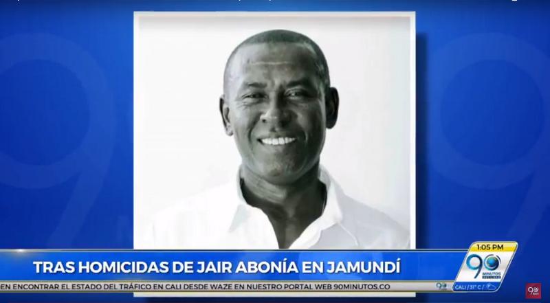 Sube a 20 millones la recompensa por autores de crimen de Jaír Abonía
