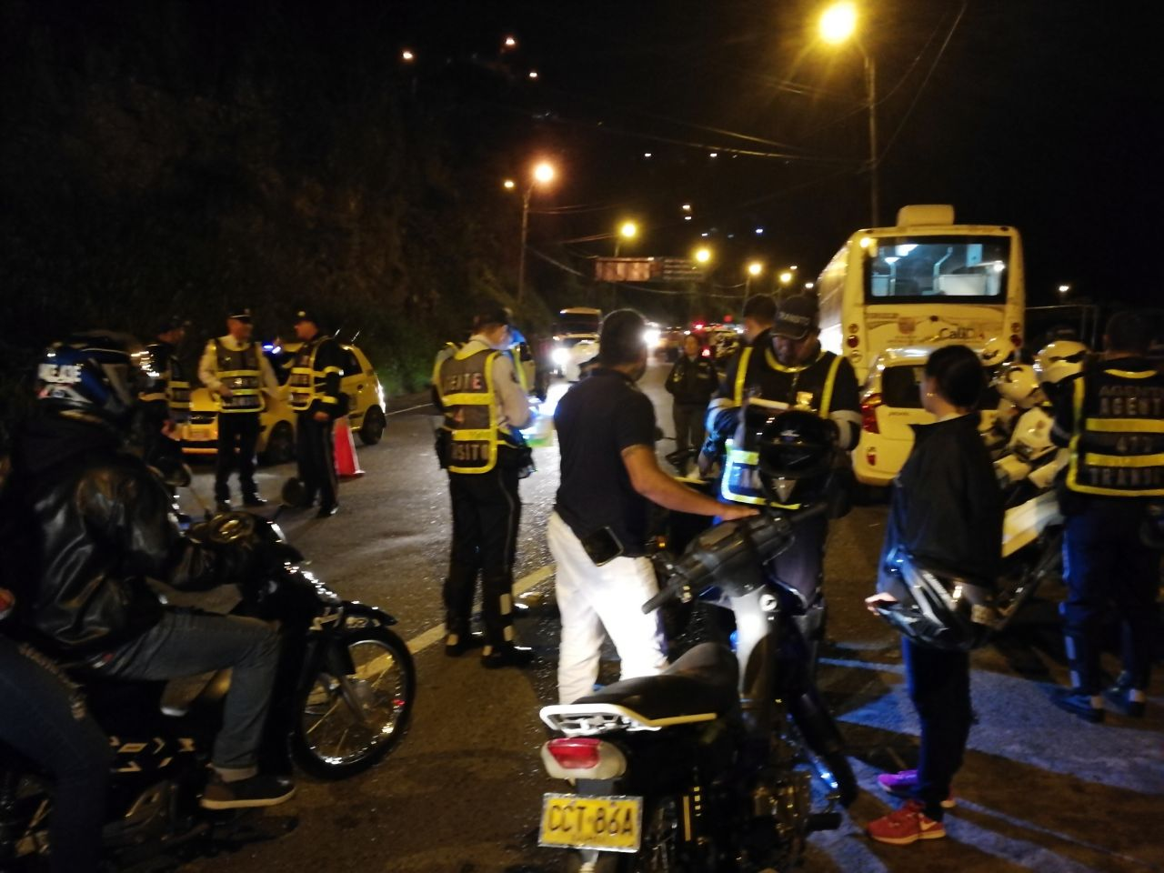 Operativos de seguridad para conductores y motociclistas en el km 18