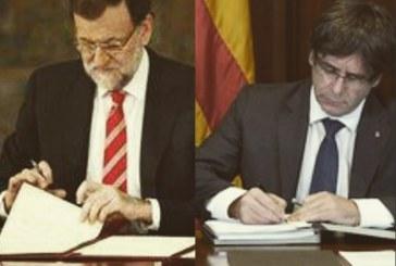 Rajoy dio solo 5 días para que se confirme declaración de independencia de Cataluña
