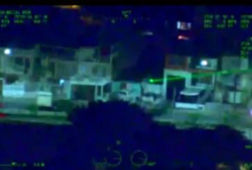 En video: multan a hombre que apuntó con láser al 'Halcón' de la Policía de Cali