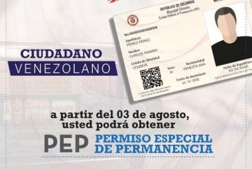 Venezolanos radicados en Colombia podrán solicitar PEP hasta próximo 31 de octubre
