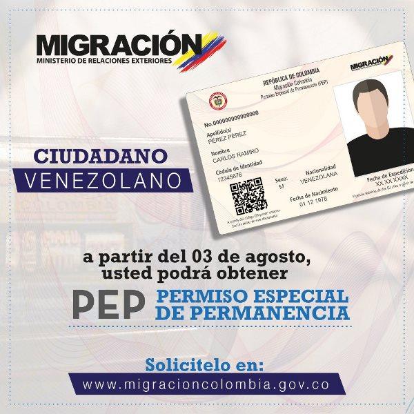 Migración colombia pep