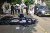 Capturan tres funcionarios de la UNP cuando transportaban más de 370 kilos de marihuana