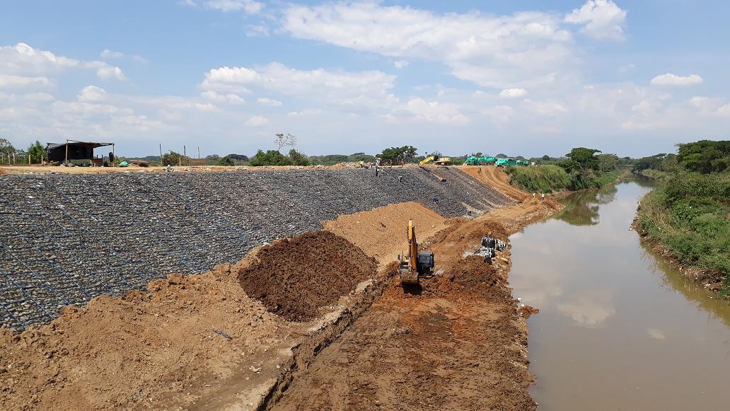 CVC culminó reforzamiento de dique que protege a Cali de posibles inundaciones