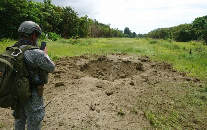 Miembros de la Fuerza Aérea inhabilitaron campo ilegal de aterrizaje en Buenaventura