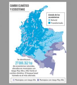 Ideam publicó mapa que informa sobre el daño ambiental que sufre Colombia