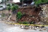 Colapsó muro de contención en el barrio San Antonio, oeste de Cali