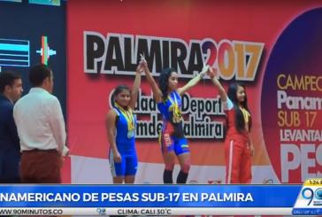 Palmira pisa fuerte en el Campeonato Panamericano de Pesas Sub 17