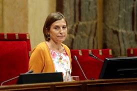 Carme Forcadellm, presidenta del parlamento catalán, fue liberada bajo fianza