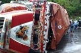 10 heridos dejó volcamiento de bus escalera en municipio de Rosas en el Cauca