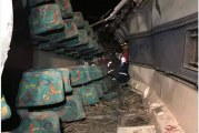 Aparatoso accidente de bus en vía Florida-Pradera deja 20 heridos