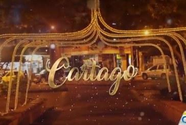 Cartago encendió su alumbrado navideño en el parque de Bolívar