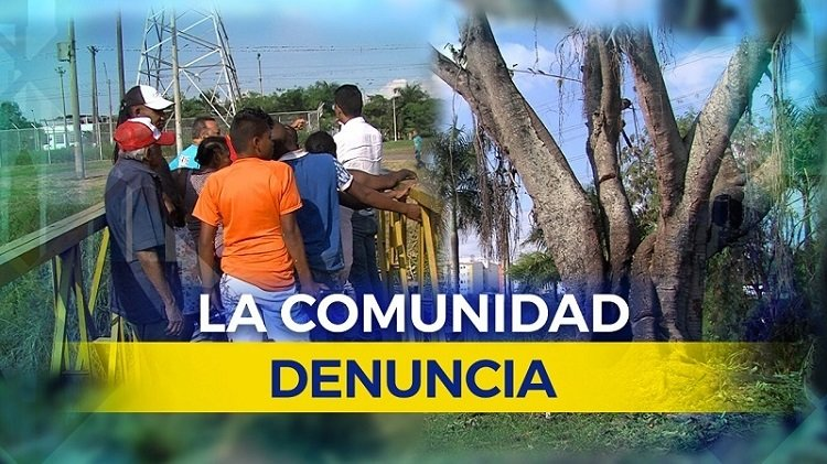 Vecinos del Alirio Mora denuncian malas condiciones de un puente: está a punto de caer