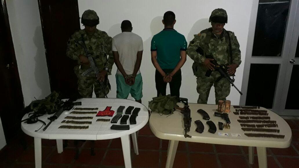 Capturan dos hombres e incautan material bélico en Suárez, Cauca