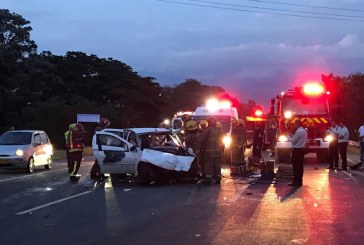 Dos personas heridas dejó aparatoso accidente de tránsito en la recta Cali – Palmira