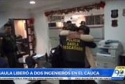 Gaula rescató tres ingenieros secuestrados en el Cauca en menos de 8 horas
