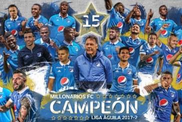 Millonarios es el campeón de la Liga Águila II 2017