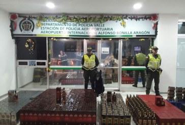 Incautan más de 1.400 botellas de licor de contrabando en el Bonilla Aragón